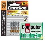 Micro-Akkus CAMELION Ni-MH, 1100mA, Typ AAA, 1,2V,...
