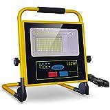 LED Baustrahler 100W Akku Strahler, bapro Solar...