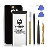 YONTEX Galaxy S7 Akku mit Ersatz Akkudeckel und...