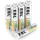 EBL Micro AAA Akku NI-MH Akkubatterien 1100mAh 8...