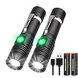 Taschenlampe LED USB Aufladbar, (Inklusive 2...
