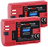 2X Baxxtar PRO Ersatz für Akku Canon LP-E6N...