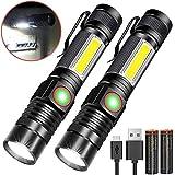 Taschenlampe LED Magnet USB Aufladbar Zoombar (Mit...