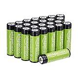 AmazonBasics AA-Batterien, wiederaufladbar, 2000...