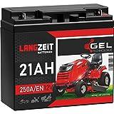 LANGZEIT Rasentraktor Batterie 12V 21Ah 250A/EN...