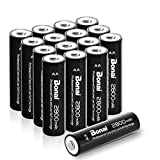 BONAI Akku AA wiederaufladbare Batterien hohe...